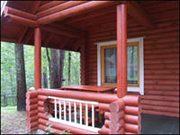 Дом оцилиндрованный брус 100 м². участок 10 соток ДНП «Новые сады»