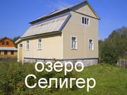Крепкий деревянный дом на участке 21 сотка. Берег озера Селигер,  в деревне Осташковского р-на Тверской области